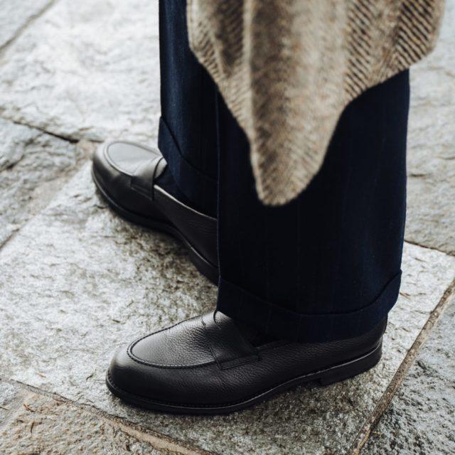 Luca Rubinacci wears Morjas Penny Loafer Grain