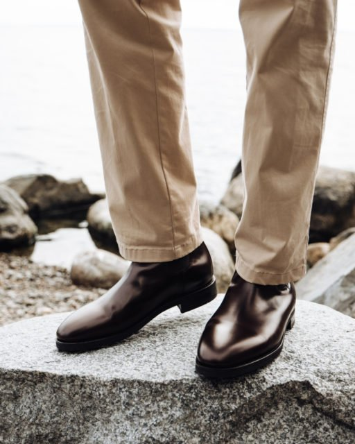 Morjas Chelsea boot Burgundy calf
