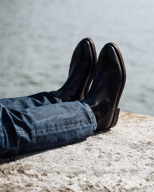 Burgundy calf Chelsea boot